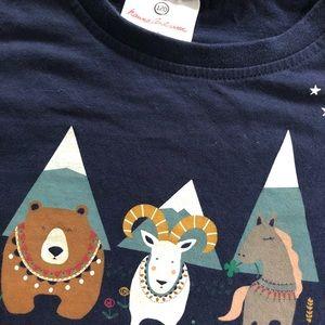 Hanna Andersson Shirts & Tops - Hanna mountain bear ram horse tee size 120
